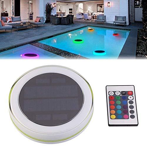 CANALO Solar LED Swimming Pool Light, Dekoratives Landschaftslicht RGB Farbwechsel Ip68 Wasserdichtes Schwimmendes Licht, Kann für Lawn Channel Deck Pond Garden Verwendet Werden