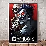 WDQFANGYI Death Note Poster Classic Anime Series Impresiones En Lienzo Bar Decoración De La Habitación Pintura Arte Pegatinas De Pared Imagen 50X70Cm (Sh-4050)