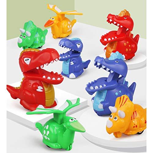 Bonbela Toys 4Pcs Random Press and Go Dinosaur Cars Dinosaur Wind Up Toys for Kids Boys Christmas Stocking Stuffers Dinosaur Party Supplies Favors