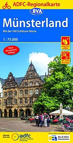 ADFC-Regionalkarte Münsterland mit Tagestouren-Vorschlägen, 1:75.000, reiß- und wetterfest, GPS-Tracks Download: Mit der 100-Schlösser-Route (ADFC-Regionalkarte 1:75000)
