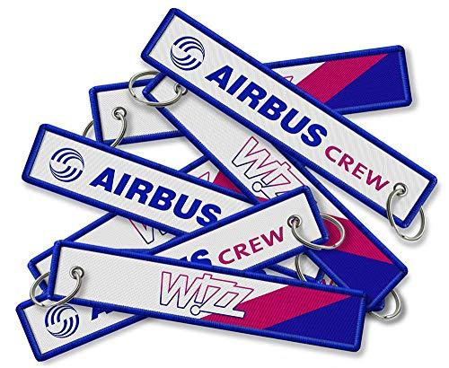 Llavero bordado Wizzair Airbus Crew