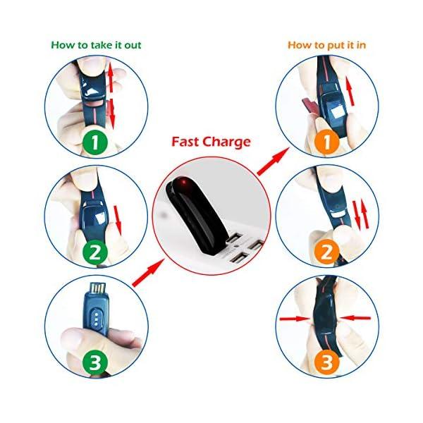 LATEC Pulsera Actividad [Última Versión], Pulsera de Actividad Inteligente Pantalla Color Reloj con Pulsómetro… 8