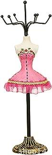 linjunddd Porte-Bijoux Princesse mod/èle Jupe Rack Porte-Support pour Hanging Boucle doreille Bracelet Anneaux Rose