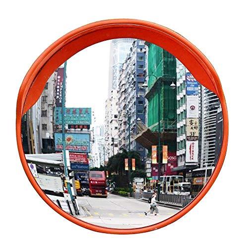 DYB Espejo de Seguridad Convexo, Espejo panorámico Espejo de Carretera, Espejo de tráfico Convexo, Diámetro 30/45/60 cm, para Seguridad Vial y Seguridad en Tiendas 30CM