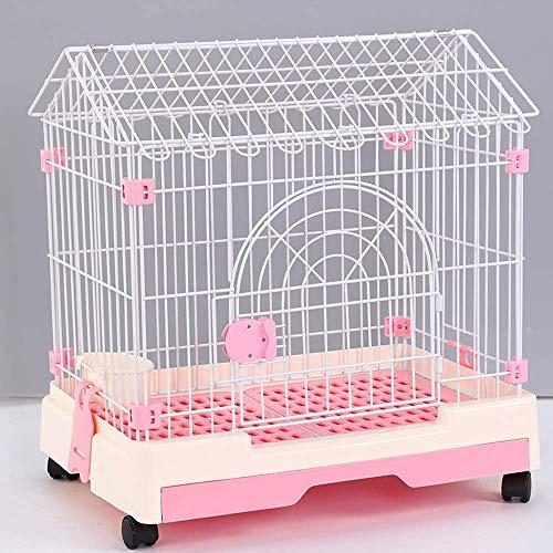 Cage pour Animaux domestiques, clôture en résine PP pour Petits et Moyens Chiens/Chats - avec WC, Abreuvoir/Coton / Bol Suspendu - 4 Couleurs