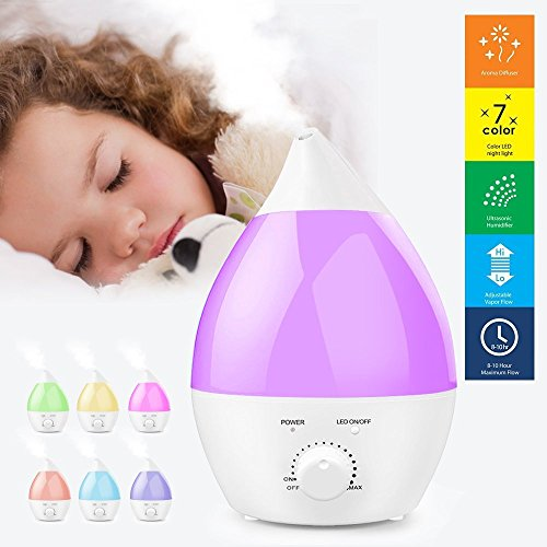 Ogima® 1.3L Kapazität kühlen Nebel Aromatherapie Luftbefeuchter Aroma Diffuser mit 7 Farben -Ändern LED-Leuchten
