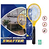 Karvipark Bug Zapper, Fly Zapper Racket with 2 AA Batteries, Electric Fly Swatter