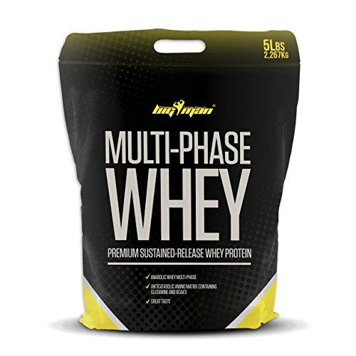 Big Man Nutrition Multi-Phase Whey Complejo de Proteínas, Yogur - 2268 gr