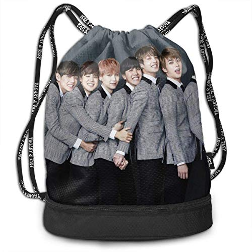 Lightweight Multifunction B.T.S Fashion Bundle Backpack Shoulder Bags Outdoor Drawstring Bag Drawstring Backpack