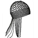 Beyiwenoo 1920er Perlenmütze, brüllende 20er Jahre Flapper Kopfbedeckung, Bauchtanz-Accessoire,...
