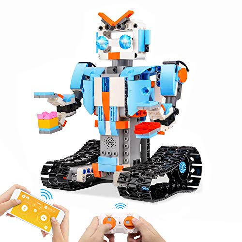 Seckton Building Blocks Robot Kit for Kids Remote Control Robot Engineering Science Educational STEM Building Toys Intelligent Gift for 8-12 Year Old Boys and Girls (351 Pieces)