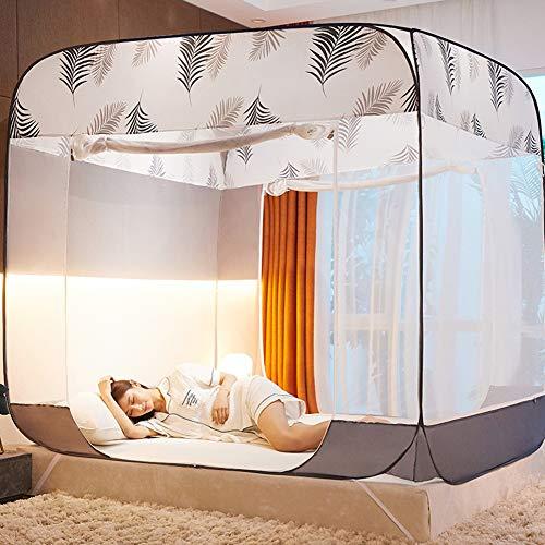 Zemer muggennet, pop-up-tent, hemelbed, muggennet, opvouwbaar ontwerp met bodem, 3 ingangen, eenvoudig te installeren, opbergtas, zonder chemische producten