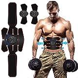 Electroestimulador Muscular Abdominales, EMS Estimulador Muscular Abdominales Cinturón, ABS Estimulador Muscular para Bdomen/Brazo/Piernas/Glúteos