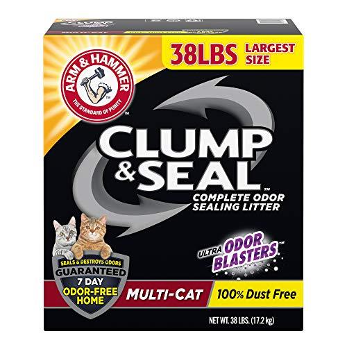 Arm & Hammer Clump & Seal Litter, Multi-Cat Litter 38 lb