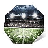Paraguas Plegable Automático Impermeable Estadio de fútbol Americano, Paraguas De Viaje Compacto a Prueba De Viento, Folding Umbrella, Dosel Reforzado, Mango Ergonómico