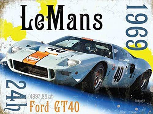 YASMINE HANCOCK Ford - Le Mans Gt40 - GrÖ&Szligx15 Metall Plaque Zinn Logo Poster Wand Kunst Cafe Club Bar Wohnkultur