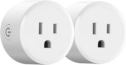 Zigbee Smart Plug Outlet, Work with Alexa Philips SmartThings Hub Echo Show (2th Gen) Echo Plug (2nd), Smart Switches Remo...