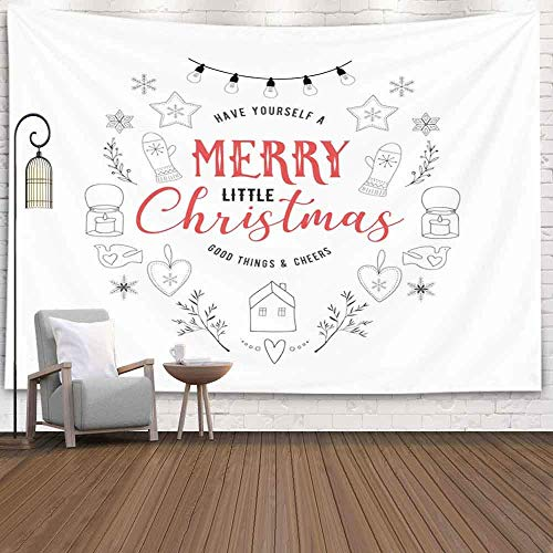 Tapiz de pared, Tapiz para colgar en la pared Halloween Estilo escandinavo Simple Elegante Feliz Navidad Saludo Decoración Habitación Regalo de cumpleaños Decoración navideña Tapices Estilo popular