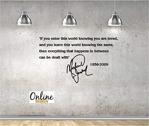 Online Design Wandtattoo / Aufkleber, Vinyl, Zitat  von Michael Jackson schwarz