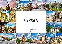 Bayern Impressionen (Wandkalender 2022 DIN A2 quer): Einmalig beeindruckende Bilder des Bundeslandes Bayern (Monatskalender, 14 Seiten )