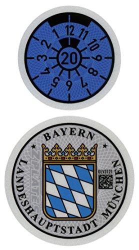 Munich 2020 German License Plate Stickers