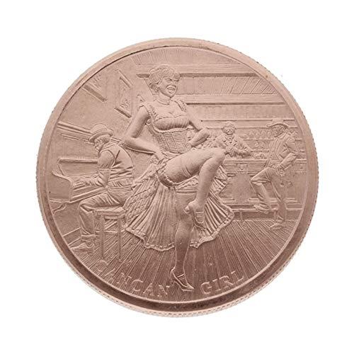 Private Mint 1 Unze (AVDP) .999 fein Kupfermünze - Cancan Girl - 1 Unze (1 oz) - Prägefrisch - einzeln in Münzkapsel verpackt