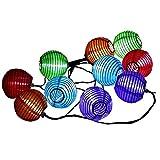 【 10個 セット 】 和風 LED 提灯 ライト 無地 自動 点灯 ソーラー パネル 搭載 折り畳み 式 お 祭り イベント 装飾 イルミネーション MI-CUTIN