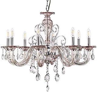 ONLI Emma - Lámpara de techo con 8 luces, color rosa envejecido y cromado