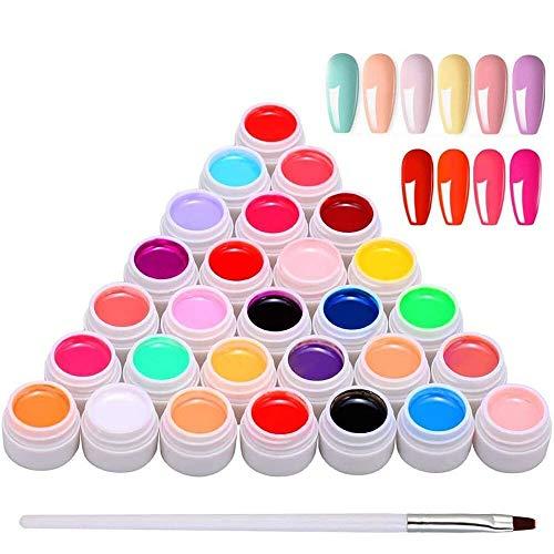 Anself 30 colori Smalti in Gel per Unghie,Gel Unghie, Kit Smalto Semipermanente per Nail Art
