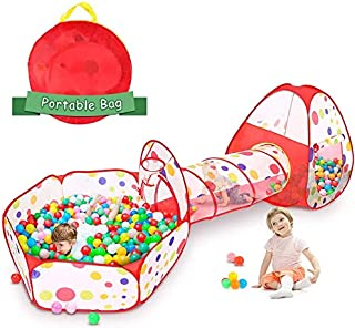 Children 's Tent Game House Triple Tunnel Baby Toys Foldable Kids Tents JQ0031