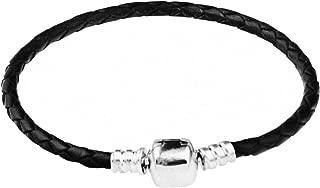 Best black braided leather charm bracelet Reviews