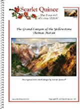Scarlet Quince MOR003 The Grand Canyon of the Yellowstone by Thomas Moran Counted Cross Stitch Chart, Regular Size Symbols