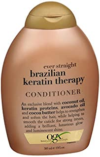 OGX Ever Straight Conditioner Brazilian Keratin Therapy, 13 OZ (Pack of 2)