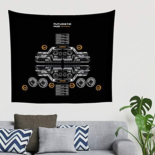 LIFOOST Tapiz de pared Code hippie – Manta de picnic para decoración del hogar, blanco, 230 x 150 cm