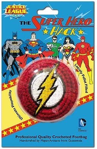 precio razonable The Flash Logo Logo Logo Embroiderojo Crocheted Footbag by Adventure Trading  tomar hasta un 70% de descuento