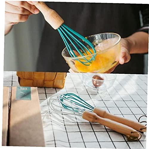 Froiny 1pc Manual De La Manija Batidor De Huevo Cocina De Madera Manual De Batidor De Huevo Batir La Crema Batir Herramienta Hornada De La Cocina Mezclador Blender (Color Azar)