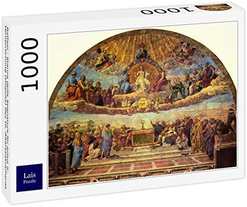 Lais Puzzle Raffael - Stanza Della Segnatura für Julius II., Verherrlichung (Disputa) des HL. Altarssakraments 1000 Teile