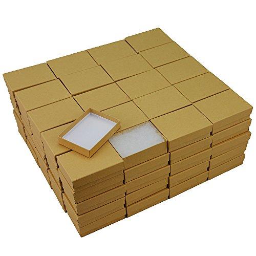 Kraft Cotton Filled Jewelry Box #32 (Case of 100)