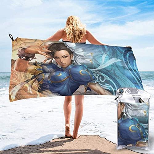 Cozy-T SPA Toallas,Street-Fighter-Chun-Li Colorful Beautiful Women Baño Toallas For Athletic Sporting,70x140cm