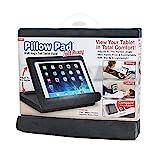 Ontel Pillow Pad Fold Away Multi-Angle Soft Tablet Stand, Gray