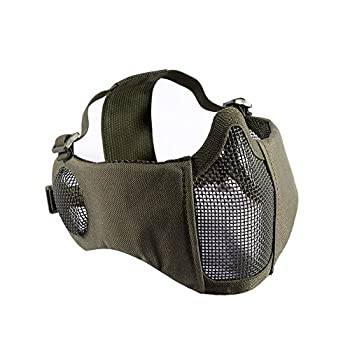 airsoft mesh mask with ear protection