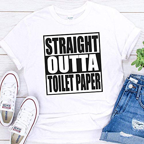 Straight Outta Toilet Paper Funny Coronavirus Pandemic T-Shirt For Men Women Adults Shirt