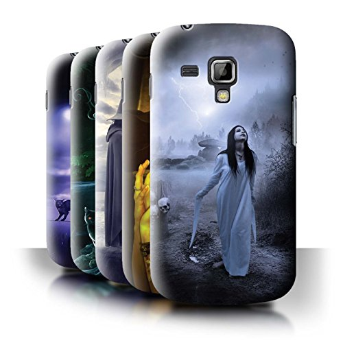 Elena Dudina Oficial Carcasa/Funda/Case Dura para el Samsung Galaxy Trend Plus/S7580 / Serie: Oscuro Magia - 6pcs Paquete