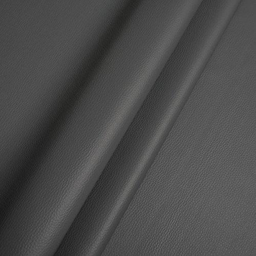 EDGE Kunstleder Meterware 1lfm 1,4m breit Polsterstoff Bezugsstoff Lederoptik Hellgrau