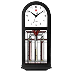 Maple veneer stained in ebony finish with brass-finish rod pendulum Click on video to hear the actual chimes in the clock Choice of 3 chiming options, volume control and night silence feature Adjustable volume control and automatic night shutoff swit...