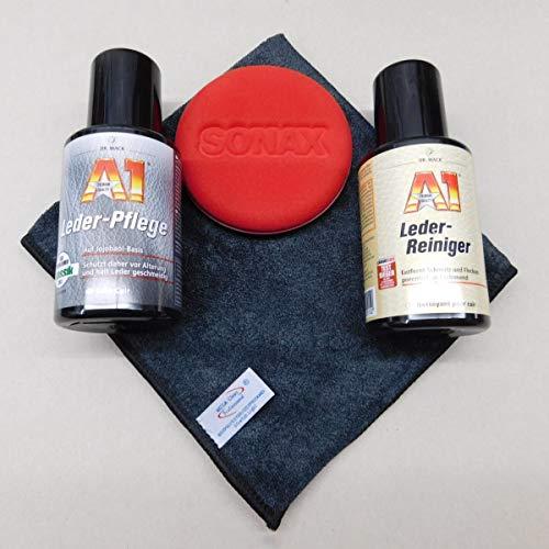 Set Dr.Wack A1 A1 Leder-Reiniger + A1 Lederpflege + Pad + Mikrofasertuch
