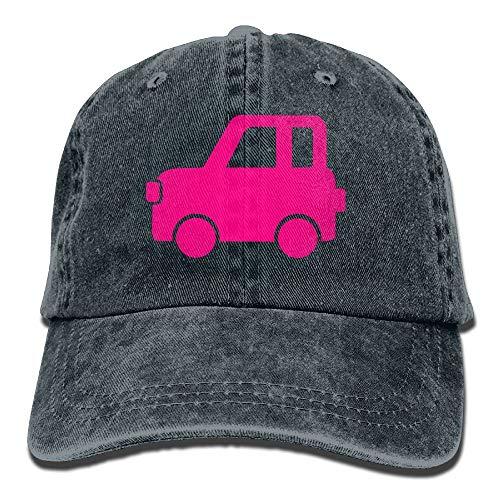zhkx Unisex Baseballkappe Baumwolle Denim Hut Pink Auto verstellbar Hiphop Cap Hip Hop 9937