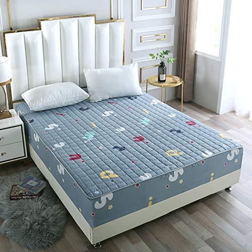 IKITOBI Sábana bajera ajustable para cama doble, suave, cómoda, lavable a máquina, transpirable, 120 x 200 cm, adecuado para colchón de 25 cm de grosor