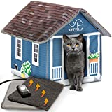 PETYELLA Heated cat Houses for Outdoor Cats in...