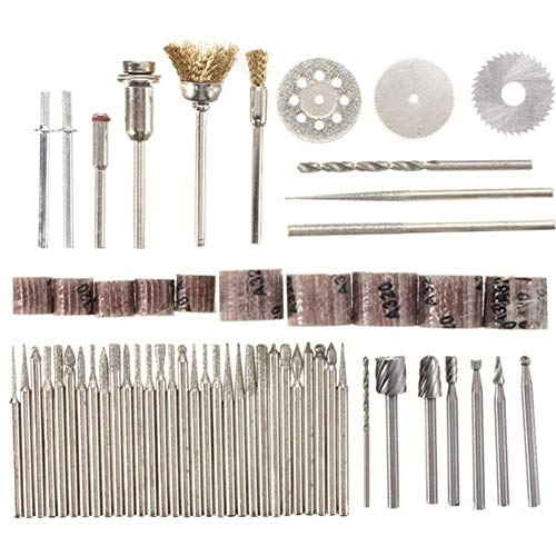 LIANGANAN Abrasives 58pcs Assorted Sanding Grinding Polishing Rotary Tool Accessory Set Abrasive Tool Tool